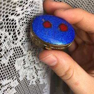 Vintage deep blue pill box